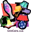 Vector Clip Art graphic  of a light motif