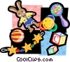 Vector Clipart picture  of a baby motif
