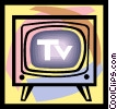 TV, television Vector Clipart graphic