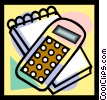calculator, pad Vector Clipart illustration