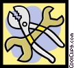 Vector Clipart picture  of a pliers