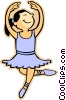 Vector Clip Art picture  of a ballet dancer