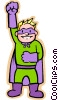 Vector Clip Art image  of a boy in super hero costume