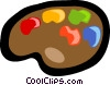 Vector Clip Art graphic  of a paint palette