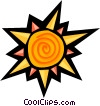Vector Clip Art graphic  of a sun