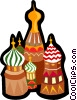 Vector Clip Art graphic  of a Kremlin