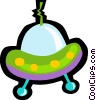 ufo, space ship Vector Clipart illustration
