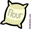 Vector Clip Art graphic  of a flour