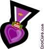 purple heart, war medal Vector Clipart image