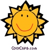 Smiling sun Vector Clipart picture