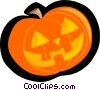 pumpkin, jack-o-lantern Vector Clipart illustration