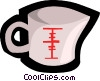 Vector Clip Art image  of a measuring cup