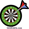 Darts in dartboard Vector Clipart graphic