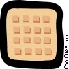 Vector Clipart illustration  of a waffle