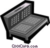 Vector Clip Art graphic  of a waffle iron