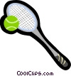 Vector Clip Art picture  of a tennis racket