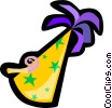 Vector Clipart illustration  of a party hat
