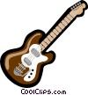 Vector Clipart graphic  of a guitar