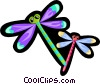 Vector Clipart graphic  of a dragon flies