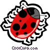 Vector Clipart image  of a lady bug