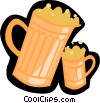 beer, steins Vector Clipart illustration
