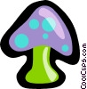 Vector Clipart graphic  of a mushroom