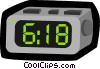 Vector Clip Art graphic  of a digital clock