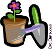 gardening, flower Vector Clipart illustration