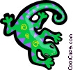 Vector Clip Art picture  of a salamander