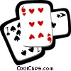 playing cards Vector Clip Art graphic