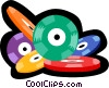 Vector Clipart graphic  of a poker chips