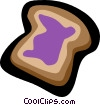 Vector Clipart picture  of a toast