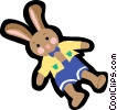 Vector Clip Art image  of a bunny rabbit