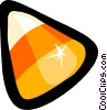Vector Clip Art image  of a Candy corn