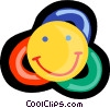 Vector Clipart graphic  of a happy face