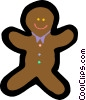 gingerbread man Vector Clipart illustration