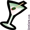 Vector Clip Art picture  of a martini
