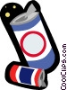 Vector Clip Art graphic  of a soda cans