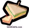 Vector Clip Art image  of a sandwiches