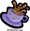 Vector Clip Art graphic  of a coffee cup