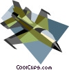 Vector Clipart picture  of a military jet