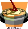 sun dial Vector Clipart illustration
