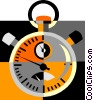 Vector Clip Art image  of a stop watch