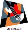 electric guitar Vector Clipart graphic