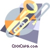 Vector Clip Art picture  of a trombone