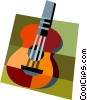 Vector Clipart image  of a guitar
