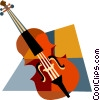 Vector Clipart illustration  of a violin