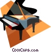 Vector Clip Art picture  of a piano