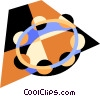 Vector Clipart graphic  of a tambourine