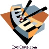 Vector Clipart image  of a xylophone